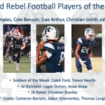 Richland v. Weatherford Players of the Week
