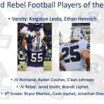 Richland Rebel Players of the Week