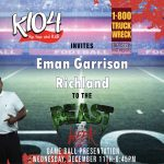 Eman Garrison to be Honored on K104