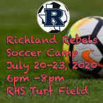Richland Soccer Camp! July 20th – 23rd, 2020