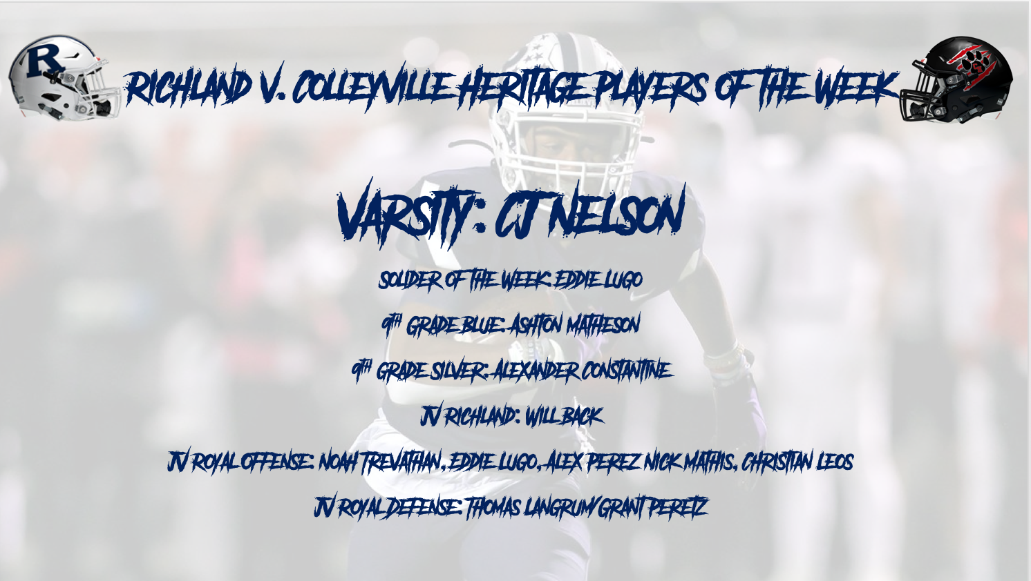 Richland v. Colleyville Heritage Players of the Week