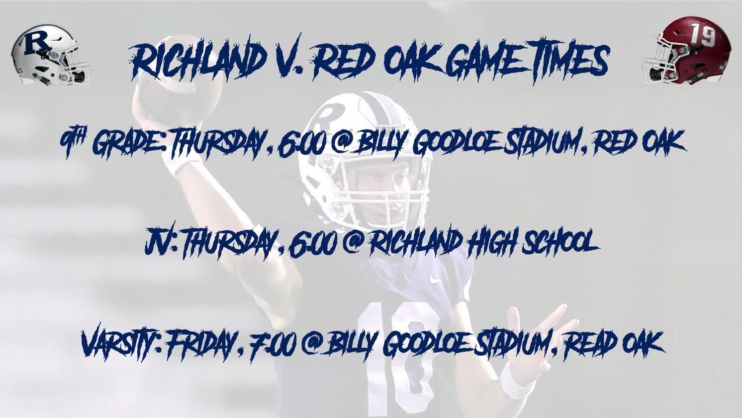 Richland v. Red Oak Game Times
