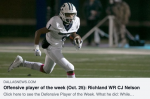 Richland's CJ Nelson Named Dallas Morning News Offensive Player of the Week!