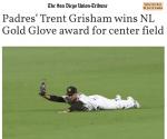 Richland's Trent Grisham Wins NL Gold Glove Award