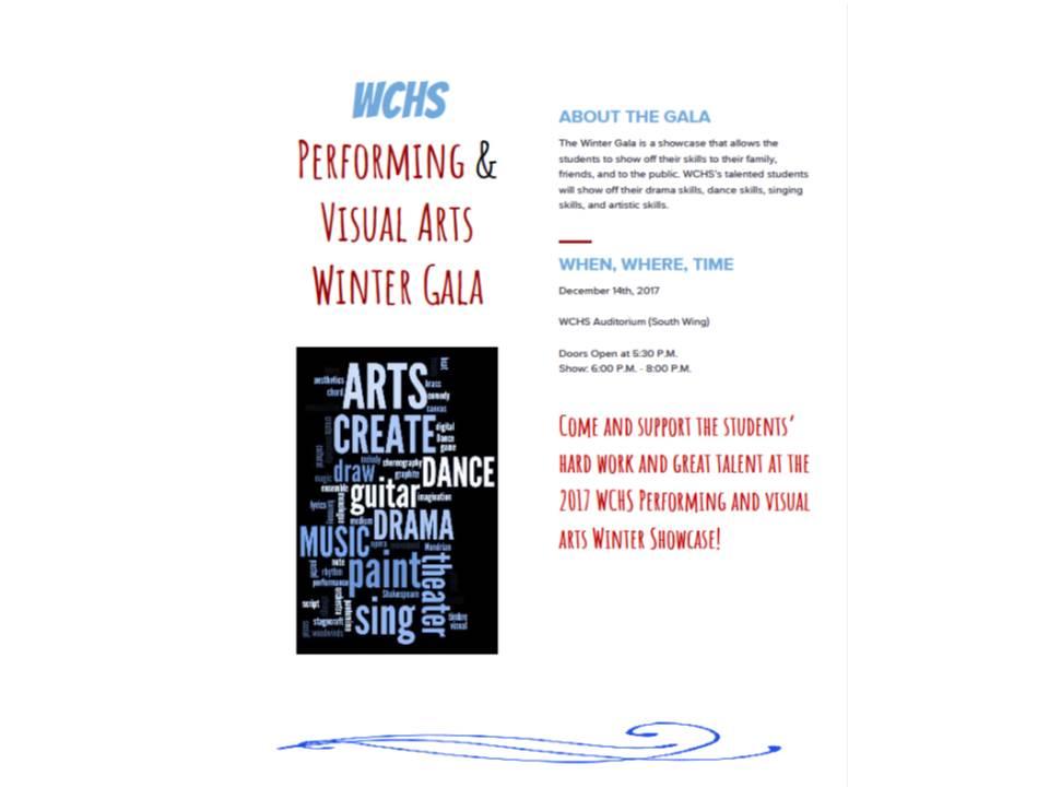 WCHS Performing & Visual Arts Winter Gala