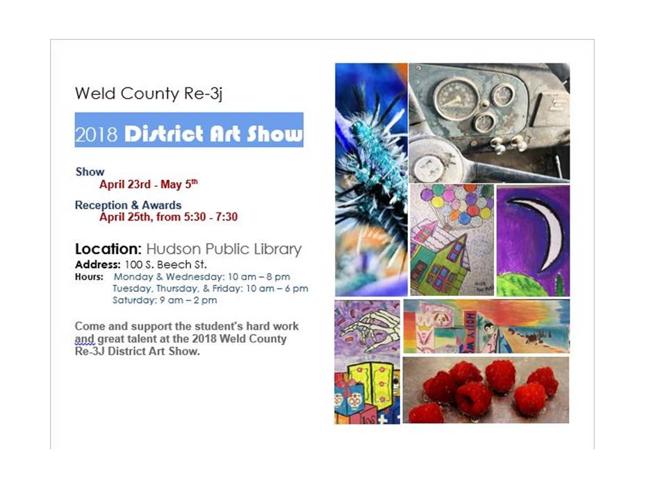 2018 Weld County RE3J District Art Show
