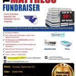MATRESS SALE – Soccer Fundraiser 9/29/2019.  10a-5p
