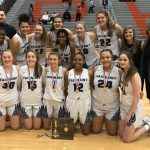 Girls Varsity Basketball win SW District Title