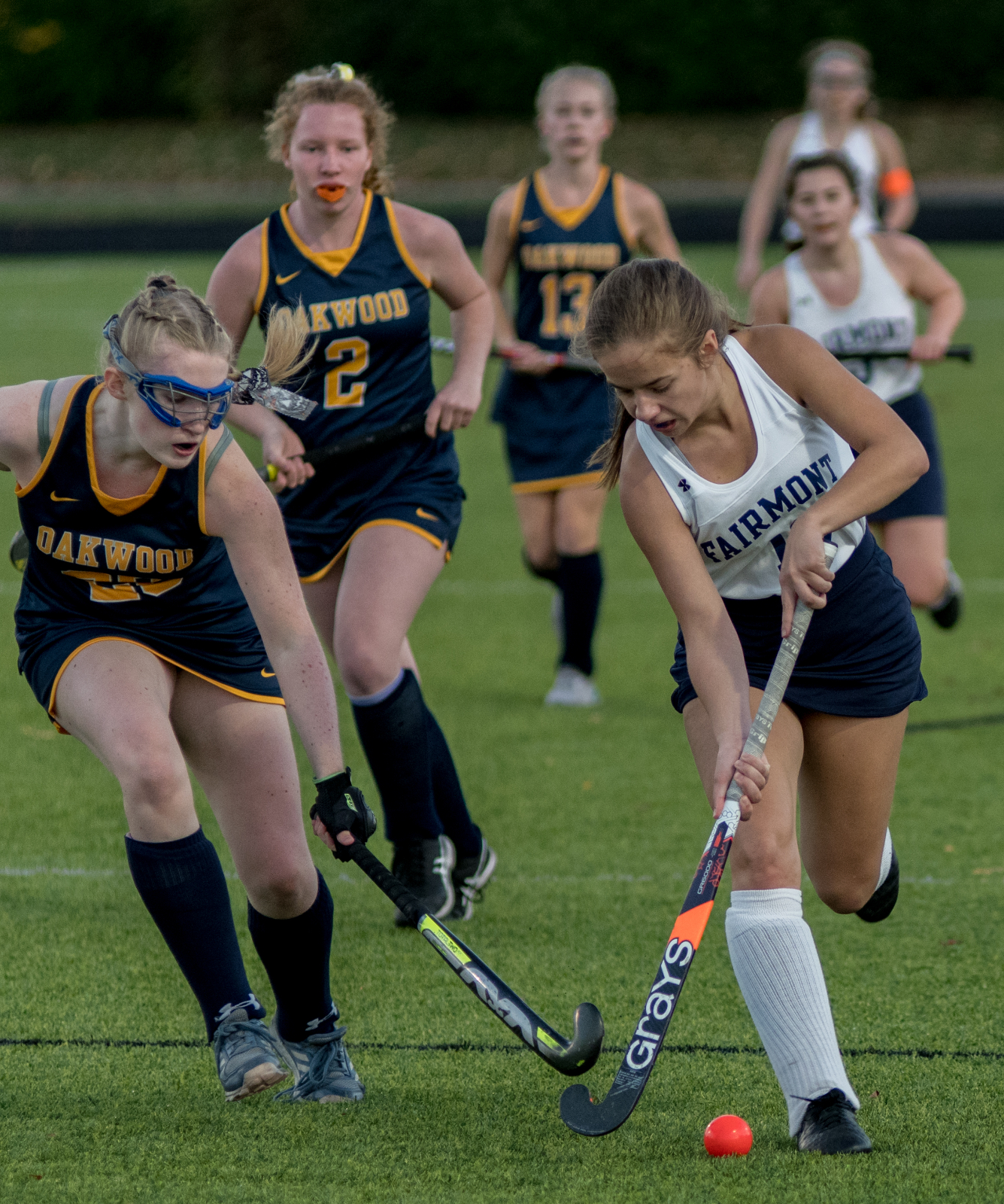 Photo highlights from Fairmont Field Hockey vs Oakwood 10-13-2020