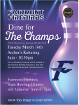 Dine for the Champs – March 16, 2021