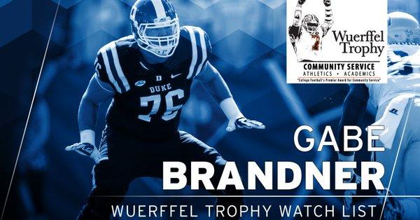 Brandner Named to Wuerffel Trophy Watch List