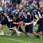 Boys Varsity Football falls to Christ School 14 – 41