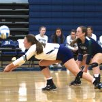 Girls Varsity Volleyball falls to Cardinal Newman School 3 – 0