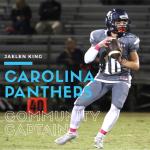 Jaelen King Named 2017 Carolina Panthers Community Captain