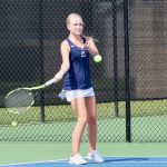 Girls Varsity Tennis falls to Trinity-Byrnes Collegiate School 7 – 2