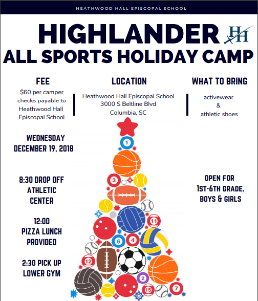 Highlander Holiday All-Sports Camp | December 19
