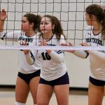 Varsity Volleyball falls to Cardinal Newman, 3-0
