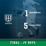 Boys JV Soccer falls to Cardinal Newman, 5 – 1