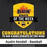 Buffalo Wild Wings Blazin' Athlete of the Week