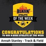 Buffalo Wild Wings Blazin Athlete of the Week