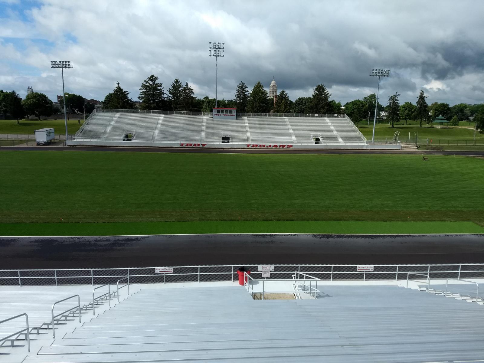 Memorial Stadium Field Near Completion