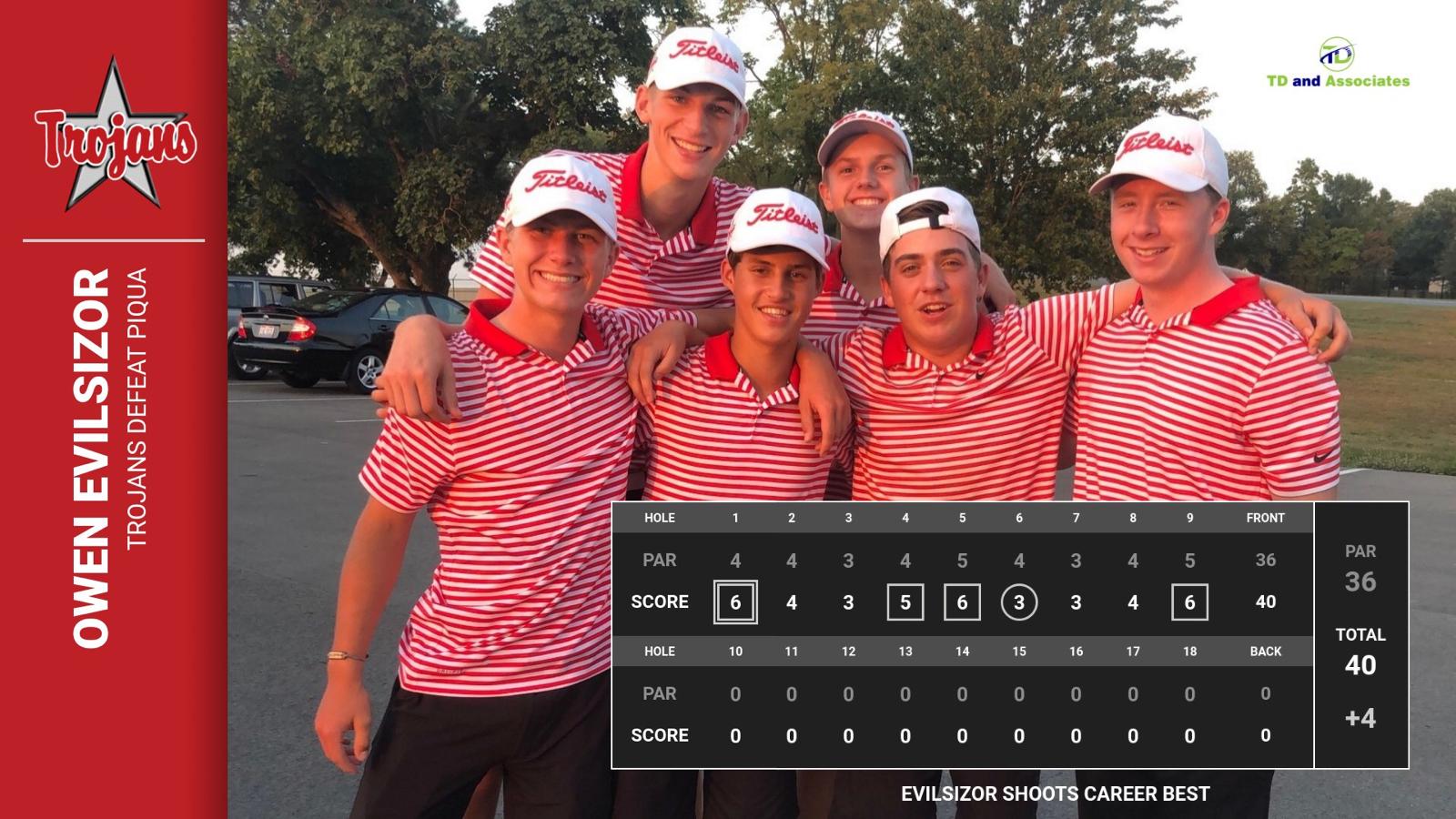 Boys Varsity Golf defeats Piqua 172-177