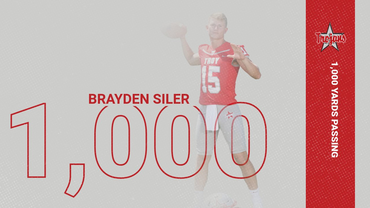 Siler passes for 1,000 yards!