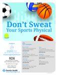 2020 – 21 Sports Physicals Being Offered Through Premier Health