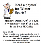 Student Athlete Physicals!
