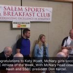 September 15, 2017 – Katy Wyatt Named Salem Sports & Breakfast Club AOW