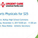 Sports Physicals at McKay