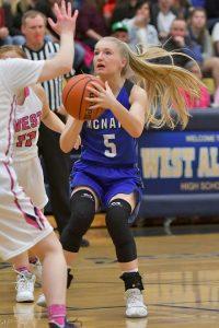 Girls varsity basketball: McNary vs West Albany 2/2/18