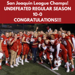 Cardinal Football Earns First Undefeated Season and First San Joaquin League Championship