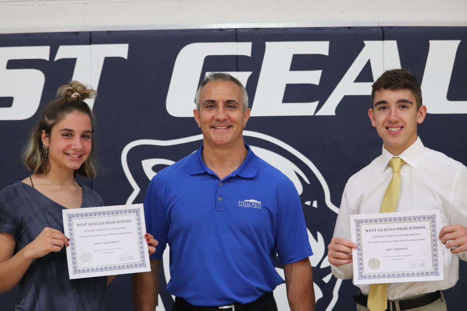 Hillcrest Insurance Student Athletes of the Month
