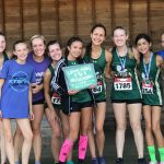 Girls Varsity Cross Country clinches 1st place at Lakelands Invitational