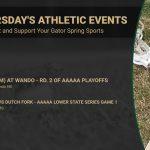 Thursday's Gators Athletic Events