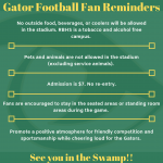 Gator Football Fan Reminders