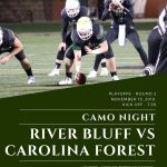 River Bluff's 2nd Round Football Game at Carolina Forest – Camo Theme For Gator Fans