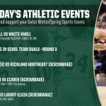 Monday's Gator Athletics Events