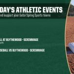 Monday's Gator Athletics Events