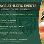 Friday's Gator Athletic Events