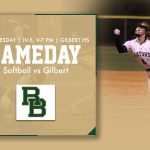 Softball Gameday! Varsity and JV travel to Gilbert on Thursday!