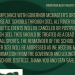 Gator Athletic Events Cancelled Through 3/31