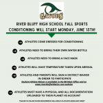 Fall Sports Conditioning to Start 6/15! Info Here…