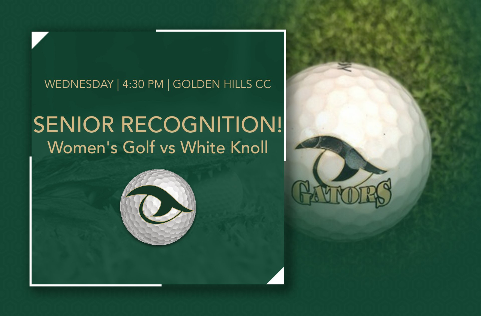 Match Day! Women's Golf Honors Seniors, Takes on White Knoll Today