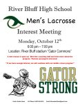 Men's Lacrosse Interest Meeting Announced – High School through Middle School