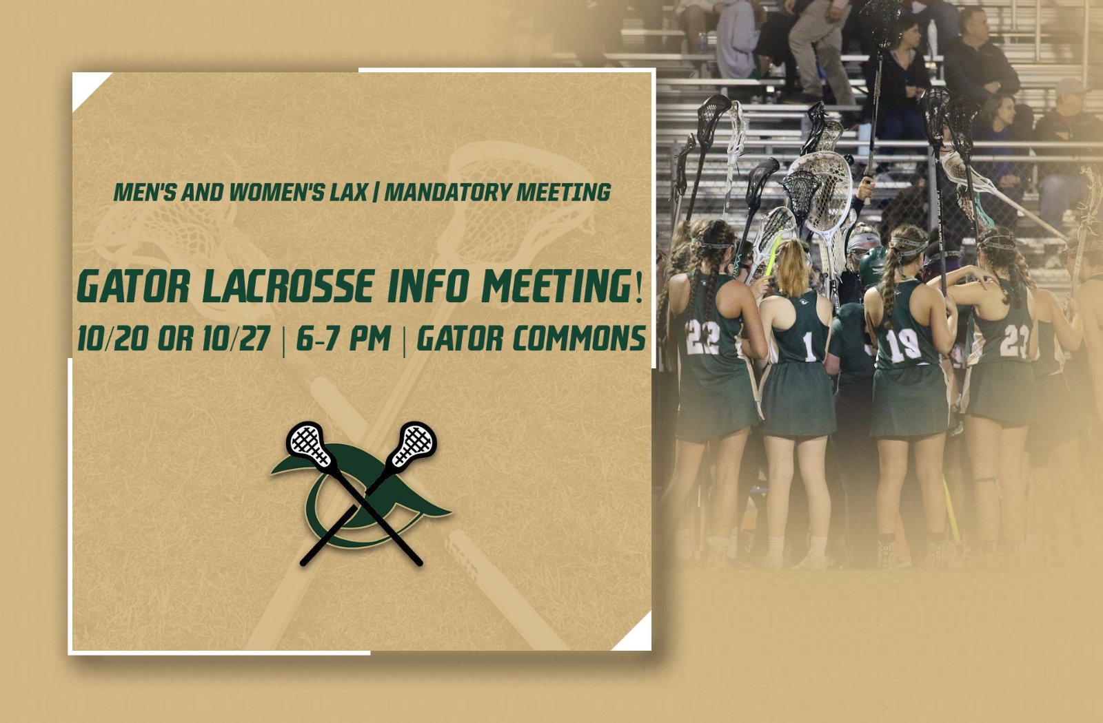 Mandatory Info Meeting Announced for Men's & Women's Lacrosse