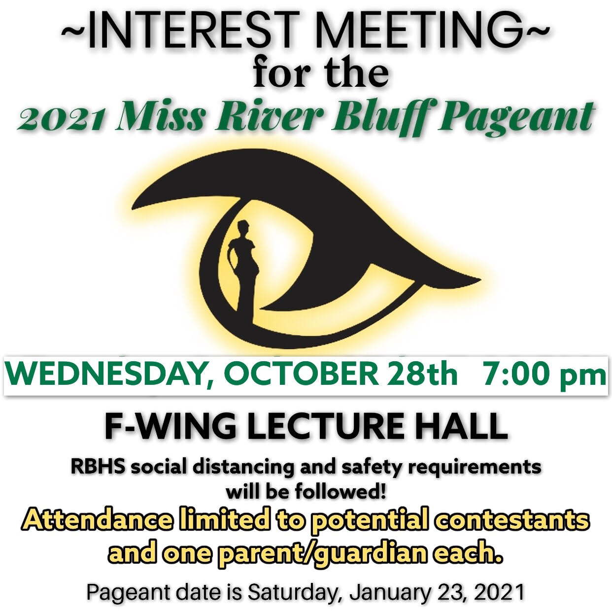 2021 Miss River Bluff Pageant Interest Meeting Announced
