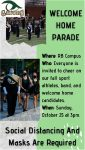 Here Comes the Parade! Welcome Home 2020 Parade at River Bluff This Sunday