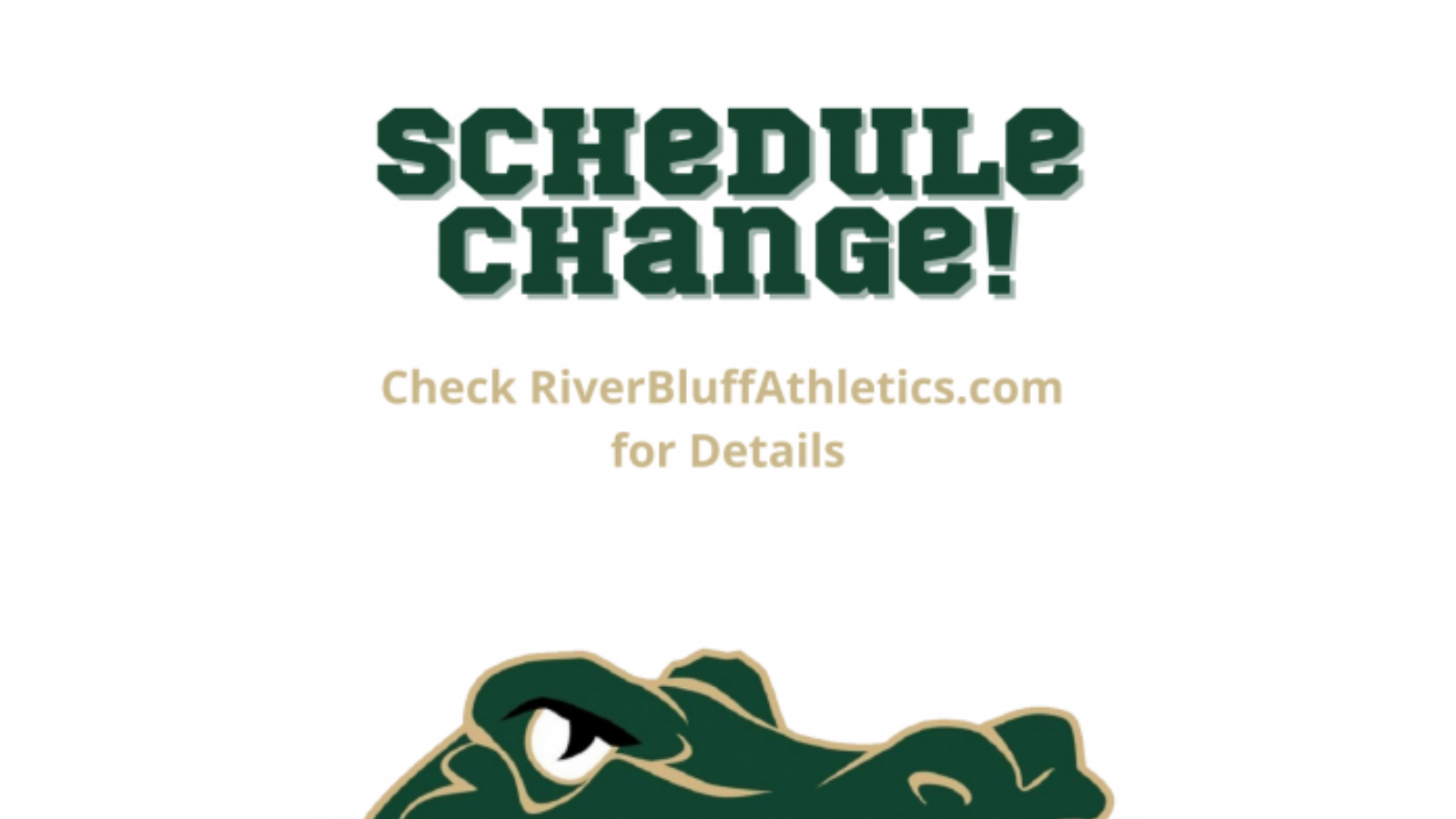 Schedule Change: Tonight's Women's Lacrosse Cancelled; Men's Moved Up to 6:30 PM